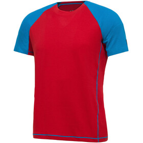 Millet Trilogy Delta Logo Short Sleeve Shirt Men rouge/light sky